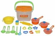 Набор посуды Полесье 20 элементов в ведёрке 56627