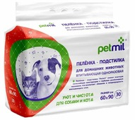 Пеленки для собак впитывающие Медмил Petmil 60х90 см
