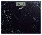 Весы напольные электронные UNIT UBS-2058, стекло, 180кг. / 50гр. Широкая платформа - 35см. Цвет: Чёрный Мрамор