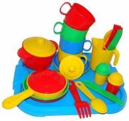 """Набор посуды Полесье """"Хозяюшка"""" с подносом на 4 персоны 4039"""