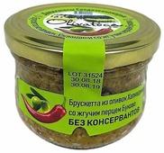 OLIVATECA Брускетта из оливок Халкидики со жгучим перцем Буково, стеклянная банка 200 г