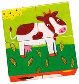 Кубики-пазлы DJECO Ферма