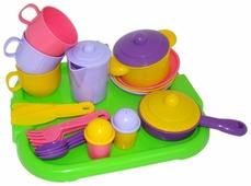"""Набор посуды Полесье """"Хозяюшка"""" с подносом на 3 персоны 4046"""