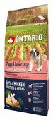 Корм для собак Ontario Puppy & Junior Large Chicken & Potatoes
