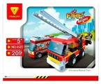 Конструктор DREAMLOCK Fire Rangers 4522 Пожарная техника