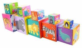 Кубики-пазлы DJECO Забавные кубики