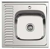 Накладная кухонная мойка Ledeme L96060-6R 60х60см нержавеющая сталь