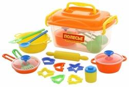Набор посуды Полесье 20 элементов в контейнере 56634