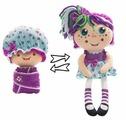 Мягкая игрушка 1 TOY Девчушка-вывернушка Варюшка 38 см