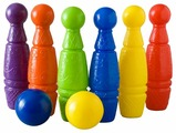 Росигрушка Набор для игры в боулинг Абрико № 1 (9043АБ)