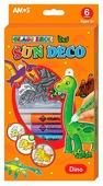 Набор для творчества AMOS Динозавры 22928 6 цв. (10.5 мл.)