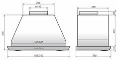 Встраиваемая вытяжка ELIKOR Врезной блок 1000 эп 52 нержавейка