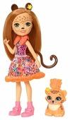 Кукла Enchantimals Чериш Гепарди с любимой зверюшкой, 15 см, FJJ20