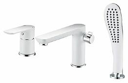 Смеситель для ванны с душем Gappo Noar G1148 однорычажный встраиваемый лейка в комплекте двухцветный