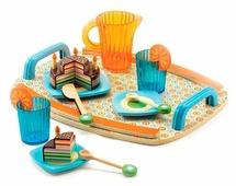 Набор продуктов с посудой DJECO Вечеринки у Габи 06518