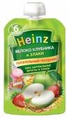 Пюре Heinz яблоко, клубника и злаки (с 6 месяцев) 90 г, 12 шт.