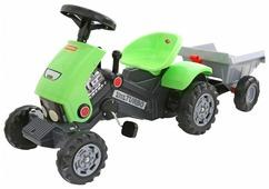 Педальная машинка Полесье Каталка-трактор с педалями Turbo-2 с полуприцепом [52742]