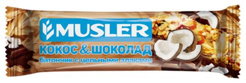 Злаковый батончик Musler в шоколадной глазури Кокос и шоколад, 30 г