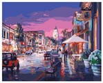 """Рыжий кот Картина по номерам """"Ночной город"""" 40х50 см (Q1223)"""
