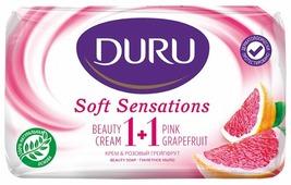 Крем-мыло кусковое DURU Soft Sensations 1+1 Крем & розовый грейпфрут