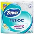Туалетная бумага Zewa Плюс Свежесть Океана двухслойная