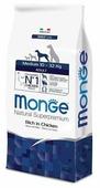 Корм для собак Monge Daily Line для здоровья кожи и шерсти, курица (для средних пород)