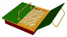 Песочница ROMANA С крышкой (109.22.00)