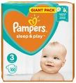 Pampers подгузники Sleep&Play 3 (6-10 кг) 100 шт.