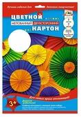 Цветной картон Цветные круги Апплика, A4, 7 л., 7 цв.