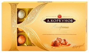 "Набор конфет Коркунов ""Ассорти"" молочный шоколад 192 г"