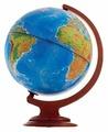 Глобус физико-политический Глобусный мир Двойная карта 250 мм (10096)