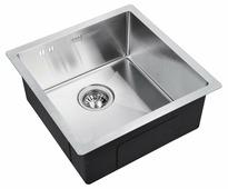 Врезная кухонная мойка ZorG INOX R-4444 44х44см нержавеющая сталь
