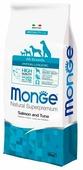 Корм для собак Monge Speciality line для здоровья кожи и шерсти, для здоровья костей и суставов, лосось, тунец
