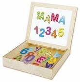 Обучающий набор Десятое королевство Касса букв и цифр с магнитной доской 02076