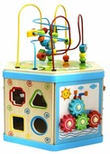 Развивающая игрушка База игрушек Куб-лабиринт 7 в 1