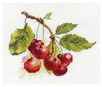 Алиса Набор для вышивания крестиком Вишня 11 х 8 см (0-140)