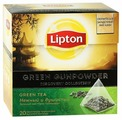Чай зеленый Lipton Green Gunpowder в пирамидках