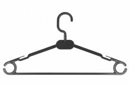 Вешалка Литопласт-Мед Набор плательная 3 С Пластмассовым Крючком
