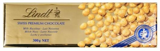 Шоколад Lindt Swiss premium молочный с цельным фундуком