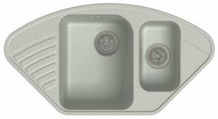 Врезная кухонная мойка GranFest Quarz GF-Z14 93х50см искусственный мрамор