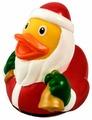 Игрушка для ванной FUNNY DUCKS Дед Мороз уточка (1846)