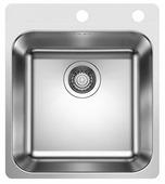 Врезная кухонная мойка Blanco Supra 400-IF/A 44х50см нержавеющая сталь