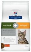 Корм для кошек Hill's Prescription Diet для профилактики МКБ, при избыточном весе, с курицей