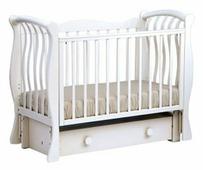 Детская кроватка КЛС БИ 07.3 Ландыш (Белый)