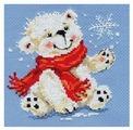 Алиса Набор для вышивания крестиком Белый медвежонок 12 x 13 см (0-053)