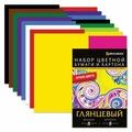 Набор цветного картона и цветной бумаги 8+8 цветов BRAUBERG, A4, 16 л., 16 цв.