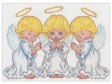 Dimensions Набор для вышивания крестиком Little Angels 17,7 х 12,7 см (65167)