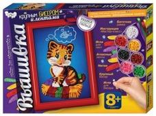 Danko Toys Набор для вышивания крупным бисером и лентами Котенок (БВ-02-02)