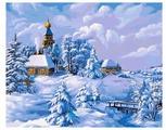 "Белоснежка Картина по номерам ""Зима в деревне"" 40х50 см (137-AB)"