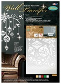 Наклейка интерьерная Феникс Present Новогодние орнаменты 35 х 50 см